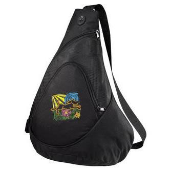 Embroidered Dog Lover Sling Bag