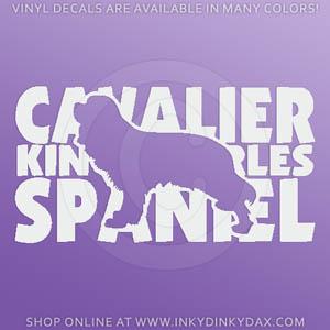 Cavalier King Charles Spaniel Decal