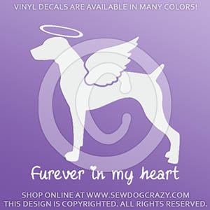 Angel German Shorthaired Pointer Decal