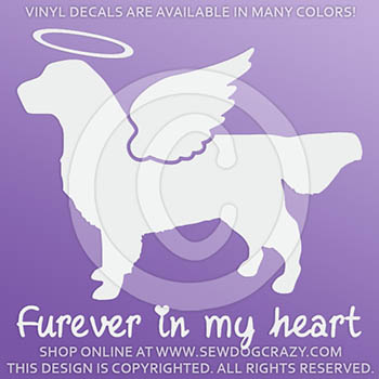 Angel Golden Retriever Decal