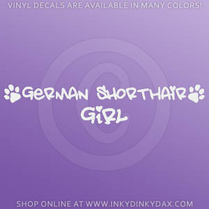 German Shorthaired Pointer Girl Decals