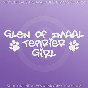 Glen of Imaal Terrier Girl Decals