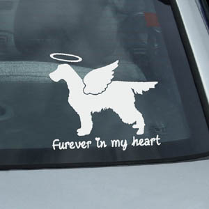 Angel Gordon Setter Decals