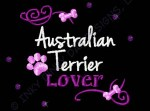 Rhinestones Australian Terrier Embroidery