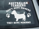 Funny Australian Terrier Stickers