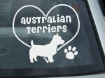 I Love Australian Terriers Decal