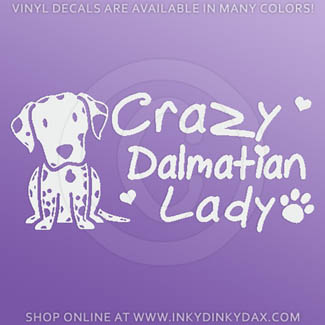 Crazy Dalmatian Lady Decals