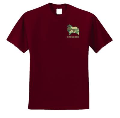 Camo Keeshond Embroidery Shirts