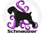 Tribal Schnauzer Embroidery