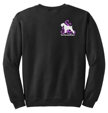 Embroidered Schnauzer Sweatshirt