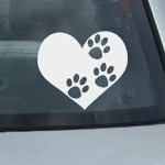 Three legged dog decal