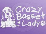 Crazy Basset Lady Stickers