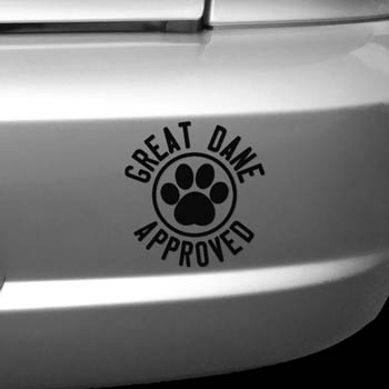 Great Dane Approved Decal