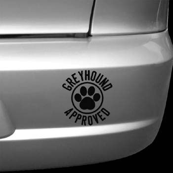 Greyhound Approved Decal