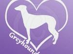 I Love Greyhounds Decals