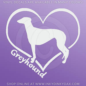 I Love Greyhounds Decals