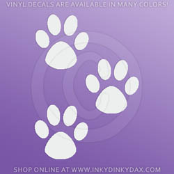 Three Paw Prints Sticker