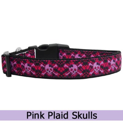Pink Skulls and Crossbones Collar