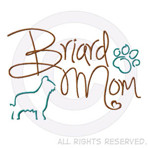 Briard Mom Apparel