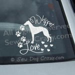 Pretty Whippet Vinyl Stickers