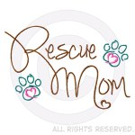 Embroidered Rescue Mom Shirts