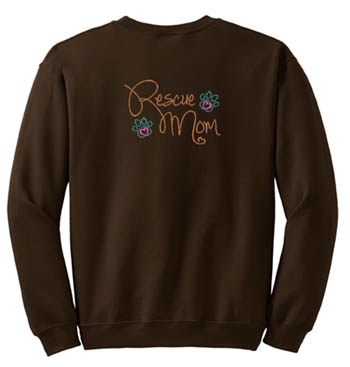 Embroidered Rescue Mom Sweatshirt