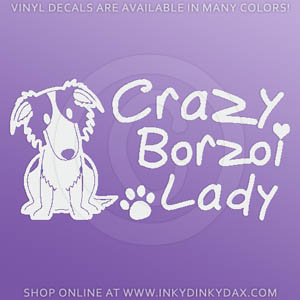 Crazy Borzoi Lady Decals