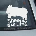 Old English Sheepdog Agility Decals