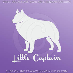 Schipperke Little Captain Sticker