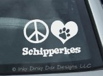 Peace Love Schipperkes Decal