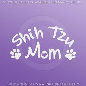 Shih Tzu Mom Decals