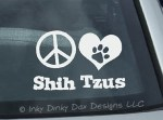 Peace Love Shih Tzus Decals