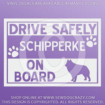 Schipperke On Board Car Sticker