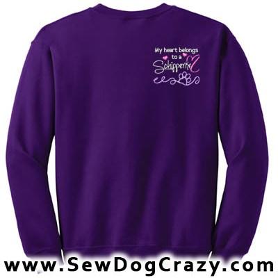 Pretty Embroidered Schipperke Sweatshirts