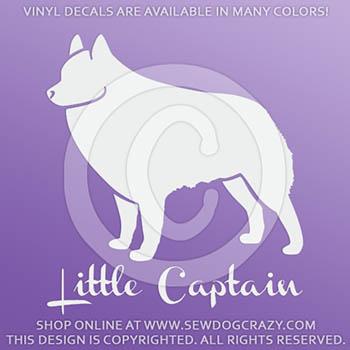 Vinyl Little Captain Schipperke Stickers