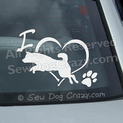 Shiba Inu Dog Sports Window Decals