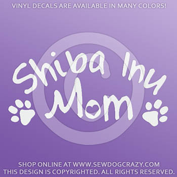 Vinyl Shiba Inu Mom Window Stickers