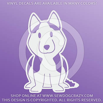Vinyl Cartoon Siberian Husky Decals
