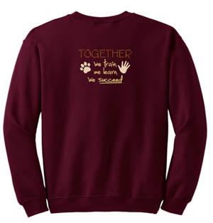 Embroidered Dog Sports Sweatshirt