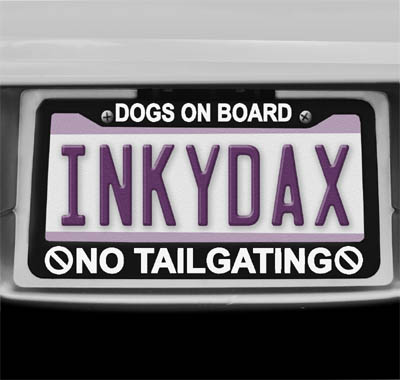 Dogs On Board License Plate Frame