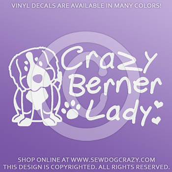 Crazy Berner Lady Stickers