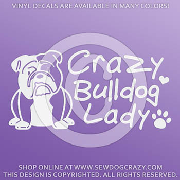 Crazy Bulldog Lady Decals