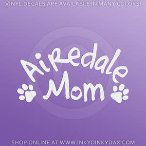 Airedale Mom Decal