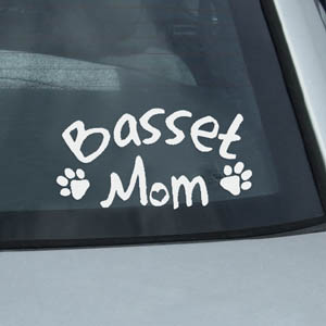 Basset Mom Sticker