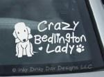 Crazy Bedlington Terrier Lady Decal
