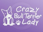 Crazy Bull Terrier Lady Decals