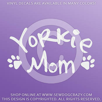 Yorkie Mom Vinyl Stickers