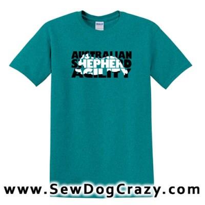 Cool Australian Shepherd Agility Tshirt