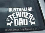 Australian Terrier Dad Decal