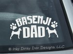 Basenji Dad Decal